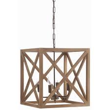 Metal Pendant Lighting Large Wood And Metal Pendant Light Revibe Designs