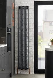 iBathUK | 1800 x 380 mm Traditional Cast Iron Anthracite Triple Column Vertical  Radiator | Cast Iron Radiators | Pinterest | Vertical radiators, ...