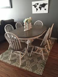 rustic solid wood kitchen table and 6