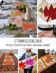 17 Thanksgiving Ideas: Free Quilt Patterns for Table Toppers ... & 17 Thanksgiving Ideas Free Quilt Patterns for Table Toppers Table Runners  and More Adamdwight.com