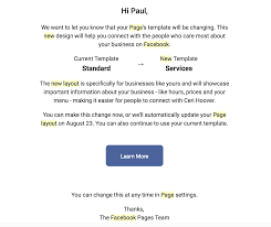 business services template how to choose the right facebook page template for your