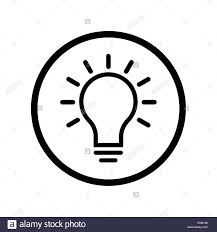 Light Bulb Symbol Copy And Paste Pictograph Of Light Bulb Icon In Circle Iconic Symbol On
