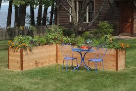 elevated cedar raised garden beds