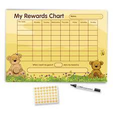 Teddy Bear Chart A3 Teddy Bear Reward Chart Funky Monkey House