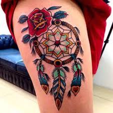 Dream Catcher Tattoo Color 100 Dreamcatcher Tattoo Designs 100 53
