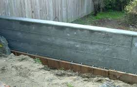 poured concrete retaining wall kids room 2 specifications