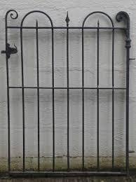 victorian wrought iron pedestrian gate