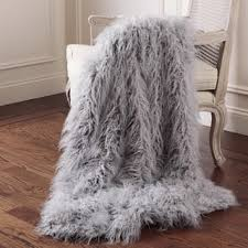 gray faux fur throw. Beautiful Throw Aurora Home Mongolian Lamb Faux Fur Throw And Gray B