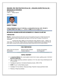 Resume For The Position Of Qa Qc Welding Inspector Or Qa Qc