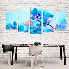 blue orchid flowers modern canvas art wall decor wall art prints with stretched frame ready on blue orchid canvas wall art with blue orchid flowers modern canvas art wall decor wall art prints