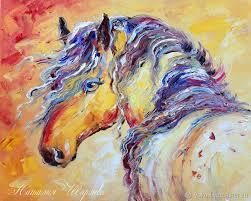 animal painting handmade livemaster handmade the painting gypsy horse oil
