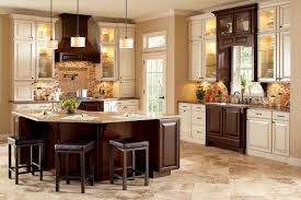 Two Tone Kitchen Cabinets Brown And White Image Ornate Kitchen Cabinets