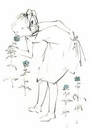 花と少女 恋人友人のイラスト10代女のイラスト20代女の
