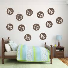 brown polka dot note wall decal set