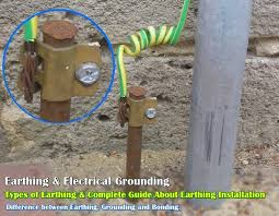 earthing types of electrical earthing electrical grounding earthing grounding bonding types of earthing grounding installation