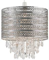 majestic drum shaped diy chandelier shades lighting. harewood chrome drum u0026 droplets ceiling lamp shade majestic shaped diy chandelier shades lighting l