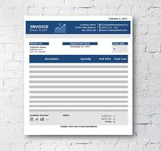 Invoice Template Download Excel Extraordinary Business Invoice Template Excel Spreadsheet Custom Etsy
