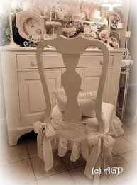 shabby cote chic chair skirt makeover reveal