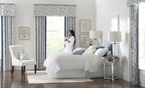Small Bedroom Curtain Decoration White Curtains With Navy Blue Design Interior Ideas For