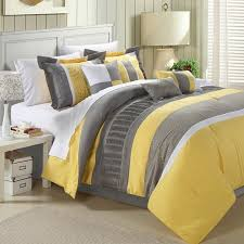 yellow king size comforter. Plain Size King Size 8Piece Oversized Comforter Set In Yellow Grey White Stripes  My  Bedroom Pinterest Size And Comforter Sets To Size E