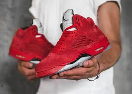 jordan 5 red. air jordan 5 red suede (flight suit) dropping this weekend