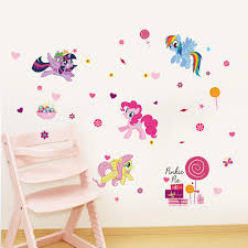 my little pony cute baby wall sticker removable decoration kids bedroom decal home decor stickers