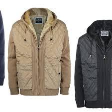 men s fleece lined knitted heavyweight zip up hooded jacket