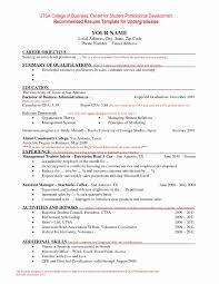14 New Ms Word Resume Template Resume Sample Template And Format