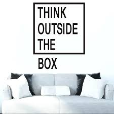 outside the box office. Delighful Outside Wall Quotes For Office Think Outside The Box Decals  Stickers Inside Outside The Box Office