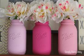 Painted Mason Jars Valentines Day Painted Mason Jars Simply Being Abby