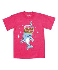 Mokuyobi Size Chart Mokuyobi Threads Heather Hot Pink Narwhal Donuts Kawaii Tee Toddler Girls