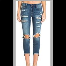 Cello Nwot Sz 1 Distressed Cropped Skinny Jeans
