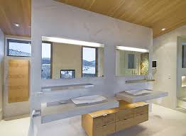 contemporary bathroom lighting. view in gallery led strip lighting above the sinks a modern bathroom contemporary e