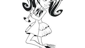 Monster High Color Page Monster High Coloring Pages And Com