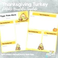 Free Thanksgiving Templates For Word Thanksgiving Newsletter Template Free