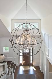 determine the right height and size for your foyer chandelier