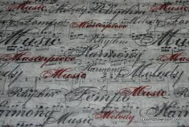 T322 Script Sheet Music Musical Notes Symphony Cotton Fabric Quilt ... & T322 Script Sheet Music Musical Notes Symphony Cotton Fabric Quilt Fabric  Antique Parchment Color Adamdwight.com