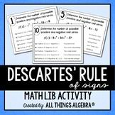 Descartes Rule Of Signs Worksheets Teaching Resources Tpt