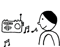 radio clipart black and white. listen music cliparts #2862308 radio clipart black and white