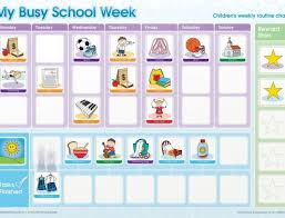 Activity Chart Kids My Busy School Week Activity Chart