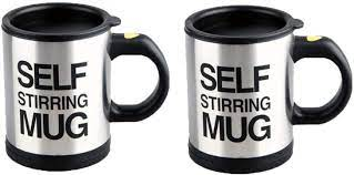 The creative self stirring mug is for the ultimate lazy men. Amazon Com 2 Pack Automatic Self Stirring Mug Coffee Cup Mixer Tea Kitchen Dining