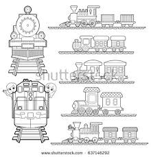 Small Picture Train Coloring Page Vector Stock Vector 449058310 Shutterstock