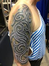Cover Up Down Old Tribal Stone Skin 3d Tattoo 3d Tattoo тату