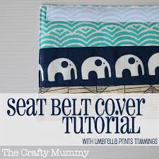 learn how to make a padded seat belt cover from a few ss padding and