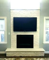 faux stone fireplace wall stacked ideas surround pictures white f