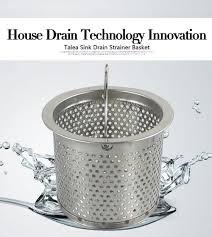 kitchen sink drain strainer inspirational talea 7 7cm stainless steel kitchen sink strainer waste plug drain