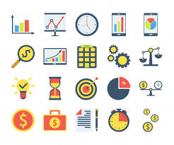 Investment Style Chart Simple Set Of Business Icons In Flat Style Contains Such
