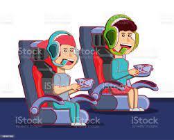 Video Oyun Konsolu Ile Oynayan Çocuklar Stok Vektör Sanatı & Animasyon  karakter'nin Daha Fazla Görseli - iStock