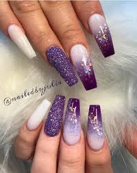 Acrylic Nail Designs Purple Pin By Lissyliss On Nails Purple Acrylic Nails Nail