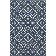 home decorators collection odyssey navy 5 ft x 8 ft indoor outdoor area